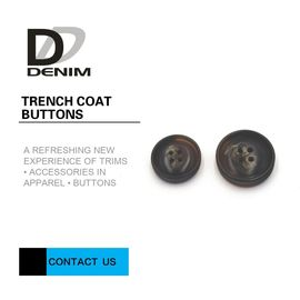 Chiny Professional DTM Design Trench Coat Buttons 4 otwory Customized Engraved Logo fabryka